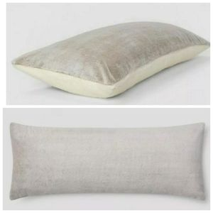 Faux Fur Body Pillow Cover Brown - Room Essentials